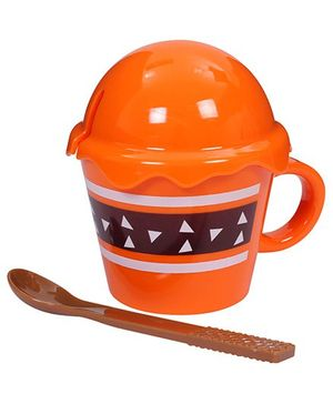 Fab N Funky - Ice Cream Shaped Cup with Lid and Spoon