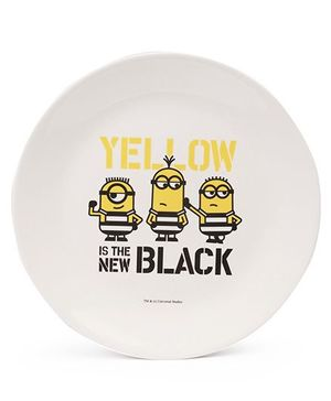 Minions Dinner Plate - White Yellow