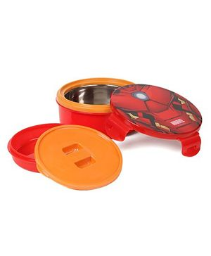 Marvel Spider Man Steel Lunch Box - Red & Orange