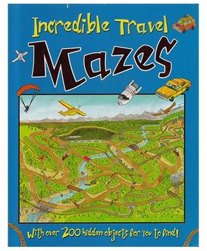 Incredible Travel Mazes Book - English
