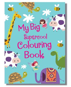 My Big Supercool Colouring Book - English