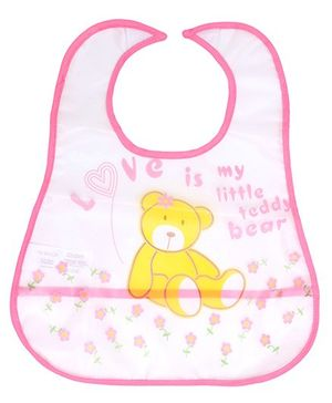 Fab N Funky - Love Is My Little Teddy Bear Print Baby Bib