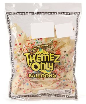 Themez Only Party Crystal Balloons With Polka Print Pack of 25 - Multicolour