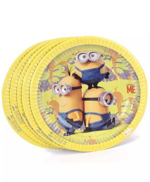 Funcart Minions Theme Paper Plate - Set of 10