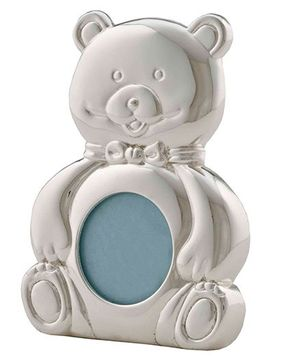 Crown Forever Frazer And Haws Mini Bear Shape Photo Frame - Silver