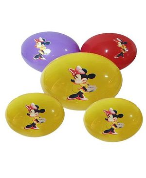Funcart Minnie Mouse Assorted Color Balloons - Pack Of 5