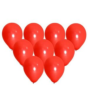 NHR Large Latex Balloons With Pump Red - Pack of 100