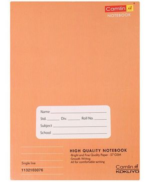 Camlin -  Single Line Notebook Brown - 72 Pages