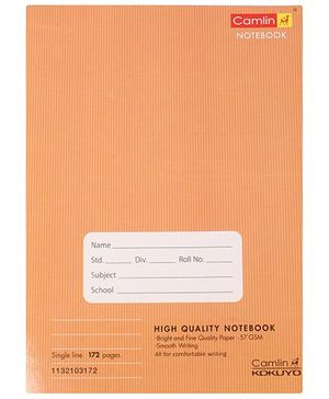 Camlin - 172 Pages Single Line Notebook, Brown