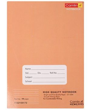 Camlin - 172 Pages Four Lines Notebook, Brown