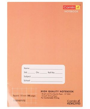 Camlin - 172 Pages Square Notebook, Brown