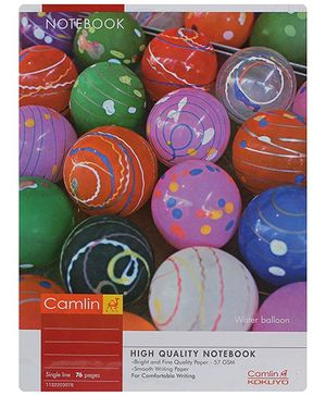 Camlin Single Line Note Book - 72 Pages