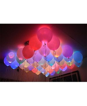 Smartcraft LED Balloons - Pack of 10 (Colour May Vary)