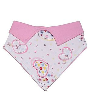 Little Hip Boutique Reversible Pink Hearts Collar Bib - Pink