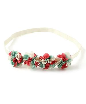 Little Hip Boutique Ruffle Flower Hair Band - White