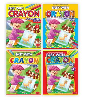 Easy with Crayon Colouring Books Combo of 4 - English