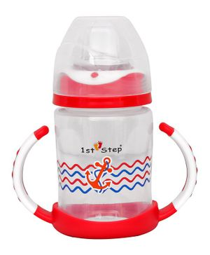 1st Step Twin Handle Sipper Cup Red - 240 ml