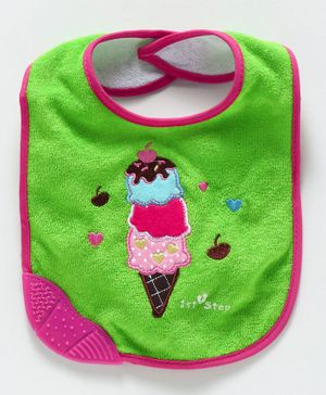 1st Step Bib Ice Cream Patch - Green