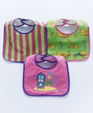 1st Step Bib Velcro Closure Pack of 3 - Multicolour