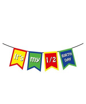 Party Propz Half Birthday Party Decoration Banner - Multicolour