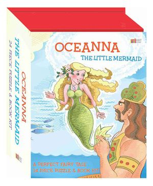 Oceanna The Little Mermaid Puzzle & Book Set - English
