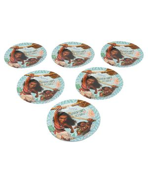 Disney Moana Paper Plate Pack of 6 - Multicolour