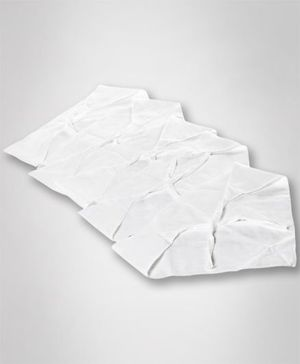Tinycare Triangle Cloth Nappy White Medium - Pack Of 5