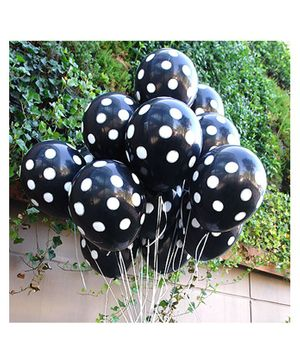 Balloon Junction Balloons Polka Dots Pack of 25 - Black