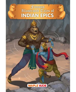 Indian Epics Tales Famous Illustrated Story Book - English