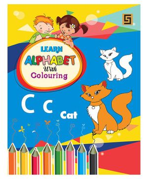 Learn Alphabets With Colouring Book - English