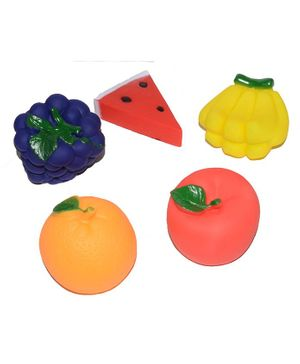 Vibgyor Vibes Fruit Shaped Bath Toys Pack of 5 - Multi Color
