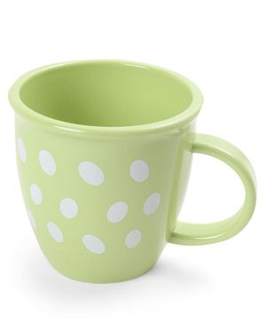 Baby Mug Polka Dot Design - Green