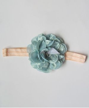 Milonee Netted Flower Headband - Blue