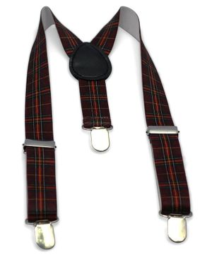Kid-O-World Checks Suspender - Maroon