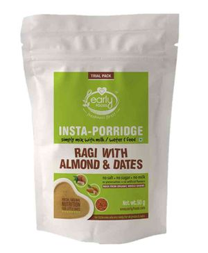 Early Foods Instant Ragi Almond & Date Porridge Mix Trial Pack - 50 gm