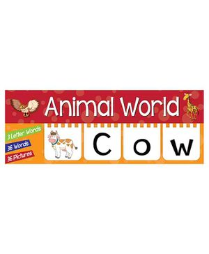 Animal Words Toddlers Flap Book - English