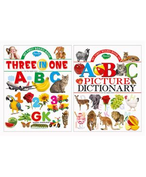 Three In One Board Books Set of 2 - English