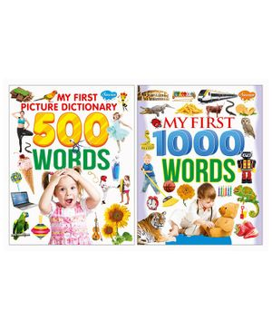 My First Picture Dictionary & Words Books Pack of 2- English