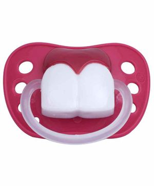 1st Step Funny Teeth Pacifier - Pink