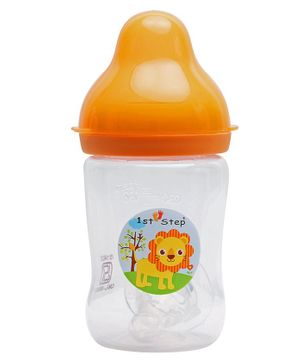 1st Step Anti Colic Feeding Bottle Orange -  125 ml