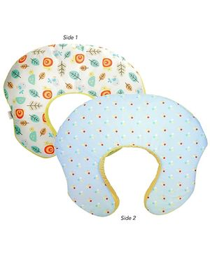 Bright Starts - 2 in 1 Feeding Pillow Baby Lounger Blue