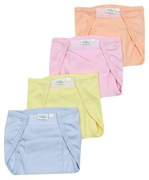Babyhug Velcro Cloth Nappy Medium - Set Of 4