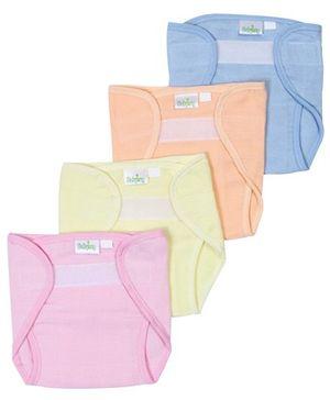 Babyhug Velcro Cloth Nappy Large - Set Of 4