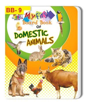 Domestic Animals Themed Board Book - English