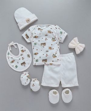 Montaly Clothing Gift Set White - 9 Pieces