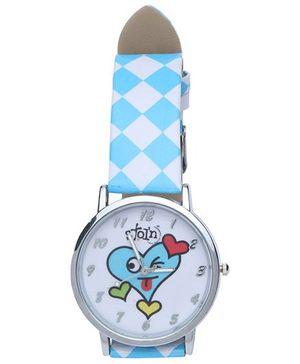 Stol'n - Blue Smiling Heart Wrist Watch