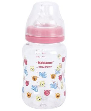 Morisons Baby Dreams Feeding Bottle - White and Pink