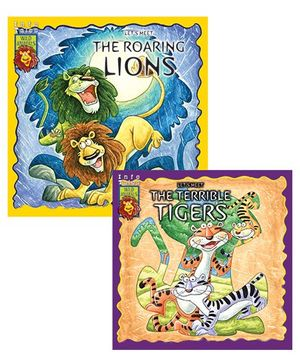 Macaw - Pack Of 2  Let's Meet Roaring Lions - Let's Meet Terrible Tigers