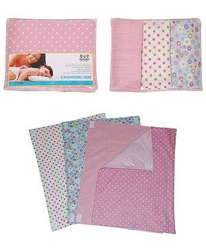 Abracadabra -  Set of 4 Diaper Changing Mats for girls