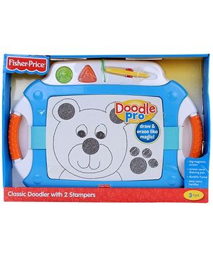 Fisher Price Classic Doodler With 2 Stampers - Blue